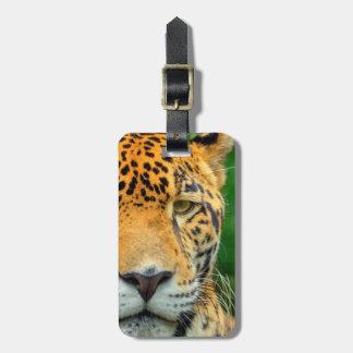 Close-up of a jaguar face, Belize Luggage Tag