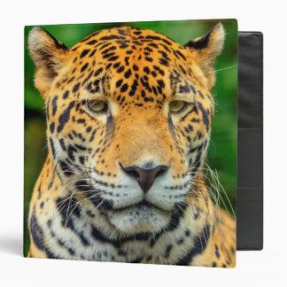 Close-up of a jaguar face, Belize Vinyl Binder