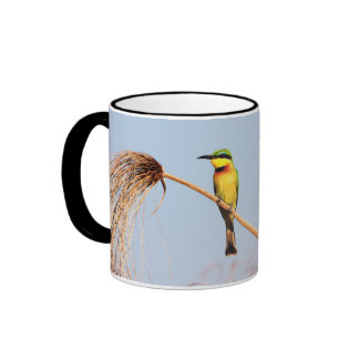 Close-up of a little bee-eater bird ringer coffee mug