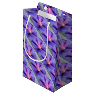 Close Up of A Morning Glory Purple and Pink Flower Small Gift Bag