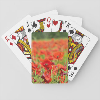 Close-up of a Poppy field, France Playing Cards