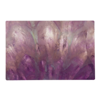Close up of a purple Amethyst Laminated Place Mat