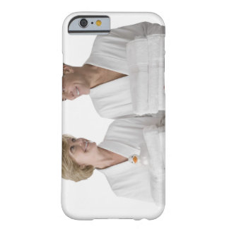Close-up of a senior man with a mature woman barely there iPhone 6 case