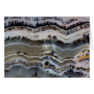 Close up of a Silver Lace Onyx Card