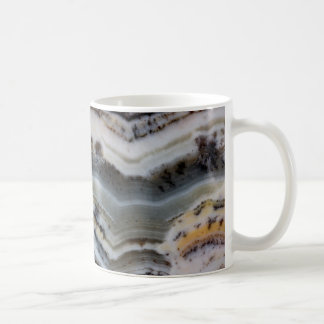 Close up of a Silver Lace Onyx Coffee Mug