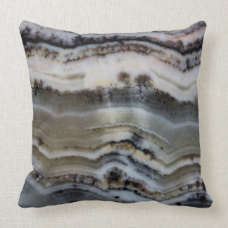 Close up of a Silver Lace Onyx Throw Pillow