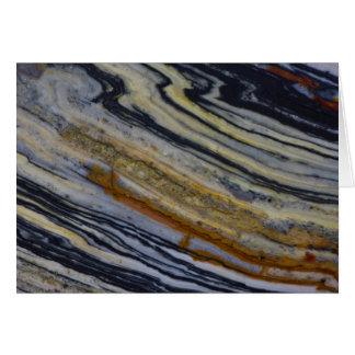 Close up of a Striated Jasper Slab Card