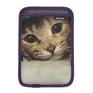 Close up of a tabby cats eyes iPad mini sleeves