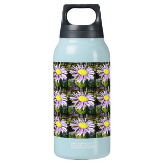 Close Up of A Violet Aster Flower Spring Bloom Insulated Water Bottle