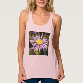 Close Up of A Violet Aster Flower Spring Bloom Tank Top