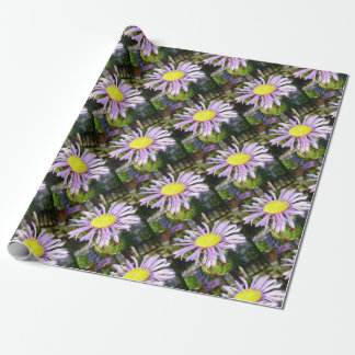 Close Up of A Violet Aster Flower Spring Bloom Wrapping Paper