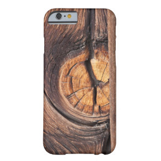 Close up of a wood knot, California Barely There iPhone 6 Case