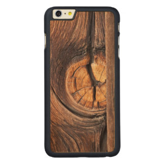Close up of a wood knot, California Carved® Maple iPhone 6 Plus Case