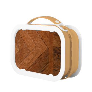 close-up of a  wood parquet on yubo lunchbox