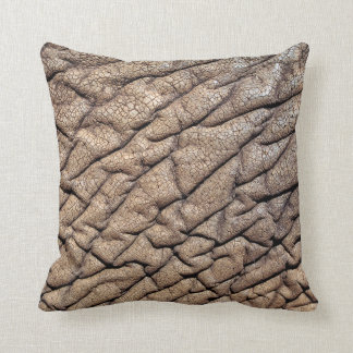 Close-Up Of African Elephant's Hide Throw Pillow