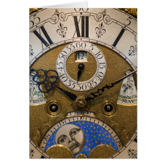 Close up of an old clock, Germany Card