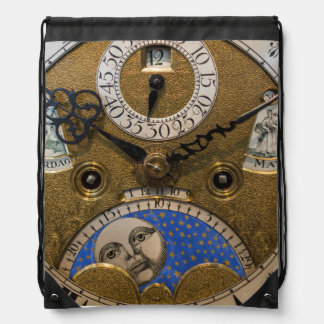 Close up of an old clock, Germany Drawstring Bag
