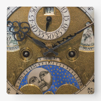 Close up of an old clock, Germany Square Wall Clock