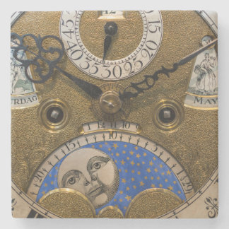 Close up of an old clock, Germany Stone Beverage Coaster