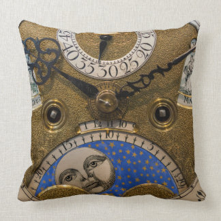 Close up of an old clock, Germany Throw Pillow
