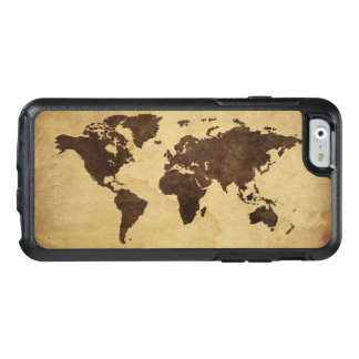 Close up of antique world map 3 OtterBox iPhone 6/6s case