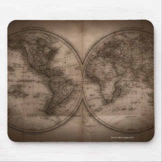 Close up of antique world map 5 mouse pad