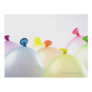 Close-up of balloons postcard