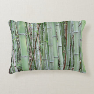 Close-up of bamboo grove accent pillow