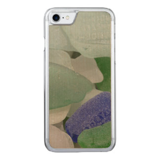 Close up of beach glass, Alaska Carved iPhone 8/7 Case