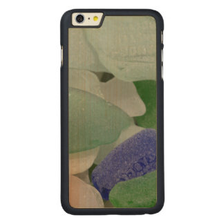 Close up of beach glass, Alaska Carved Maple iPhone 6 Plus Case