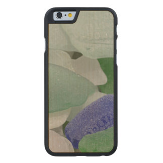Close up of beach glass, Alaska Carved® Maple iPhone 6 Slim Case