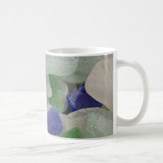 Close up of beach glass, Alaska Coffee Mug