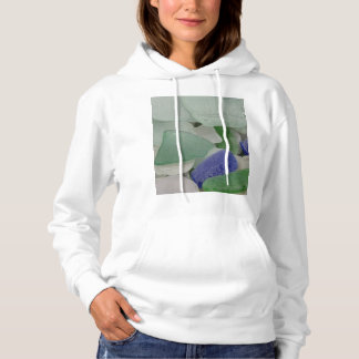Close up of beach glass, Alaska Hoodie
