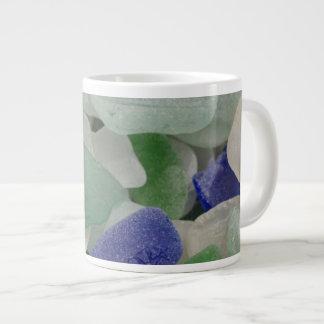 Close up of beach glass, Alaska Large Coffee Mug