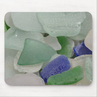 Close up of beach glass, Alaska Mouse Pad
