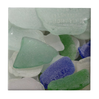 Close up of beach glass, Alaska Tile