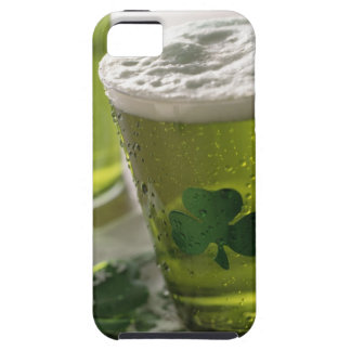 Close up of beverages with shamrocks on glass iPhone 5 cover