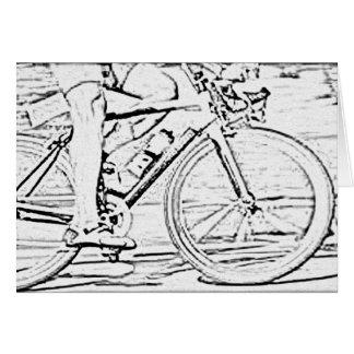 Close up of bike card