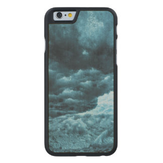 Close up of blue ice, Iceland Carved® Maple iPhone 6 Case