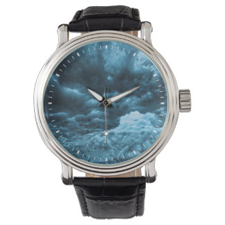 Close up of blue ice, Iceland Wrist Watches