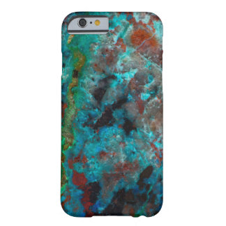 Close up of blue Shattuckite Barely There iPhone 6 Case