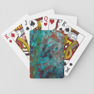 Close up of blue Shattuckite Playing Cards