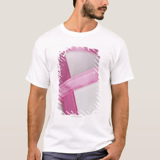 Close up of Breast Cancer Awareness Ribbon T-Shirt