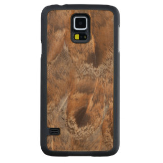 Close Up Of Brown Feathers Carved Maple Galaxy S5 Case