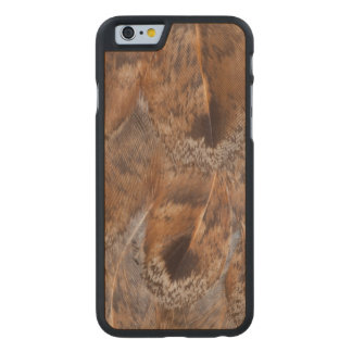 Close Up Of Brown Feathers Carved Maple iPhone 6 Case
