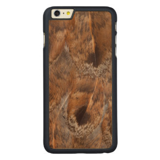 Close Up Of Brown Feathers Carved Maple iPhone 6 Plus Case