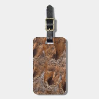 Close Up Of Brown Feathers Luggage Tag