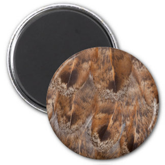 Close Up Of Brown Feathers Magnet