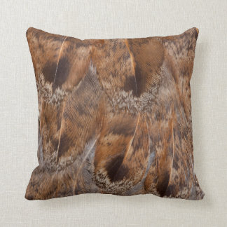 Close Up Of Brown Feathers Throw Pillow