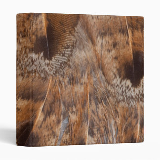 Close Up Of Brown Feathers Vinyl Binders